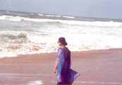 The lashing waves of the Bay of Bengal at Puri